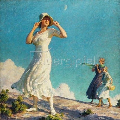 Charles Courtney Curran: Im Hochland. 1917