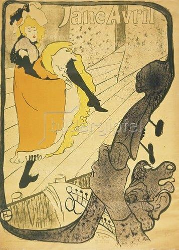 Henri de Toulouse-Lautrec: Lithographie Jane Avril. 1893.
