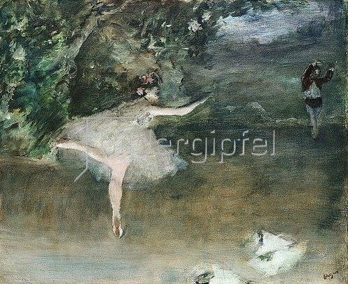 Edgar Degas: Der Spitzentanz (Les Pointes). Um 1877-78