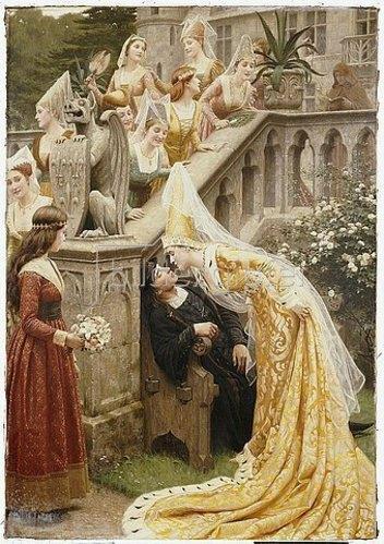 Edmund Blair Leighton: Alain Chartier. 1903