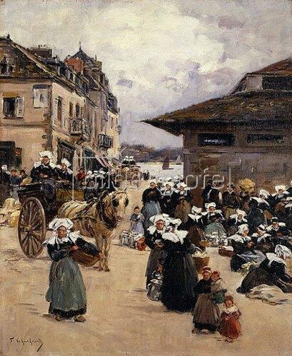 Fernand Legout-Gérard: Markttag in Concarneau.