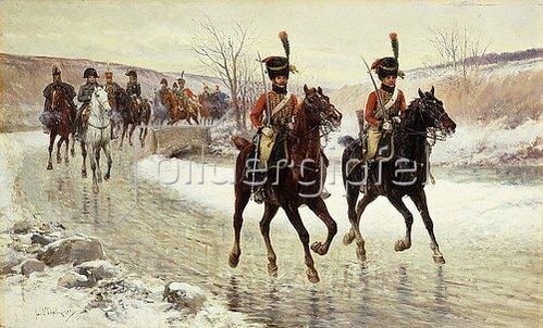 Jan van Chelminski: Napoleon mit seiner Eskorte.