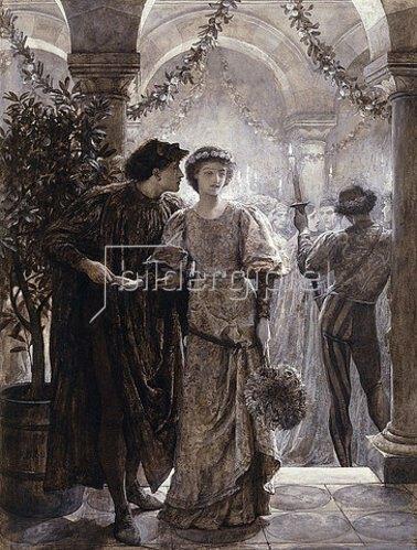 Sir Frank Dicksee: Szene aus Romeo und Julia: Der Ball (1. Akt, 5. Szene). 1882