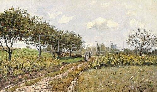 Alfred Sisley: Die Landstraße (La Chemin dans la Campagne). 1876