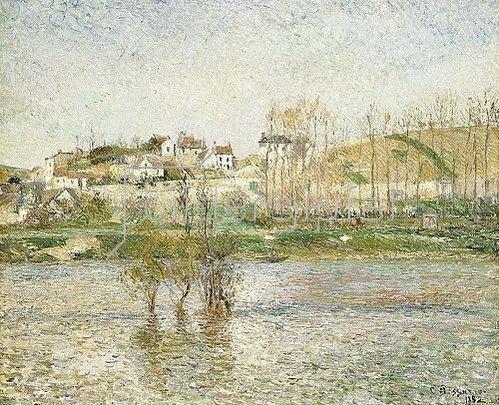 Camille Pissarro: Hochwasser in Pontoise (Inondation à Pontoise). 1882