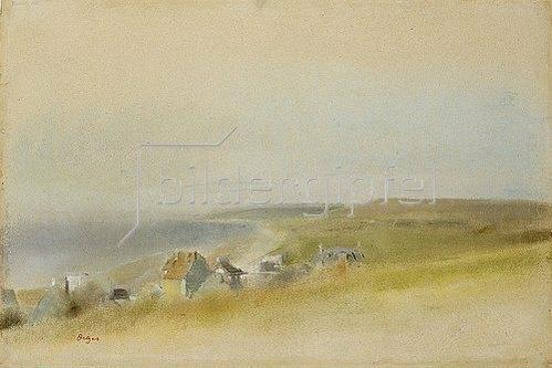 Edgar Degas: Häuser an den Klippen bei Villers-sur-Mer (Maisons sur des Falaises Contournant une Baie, Villers-sur-Mer). 1869