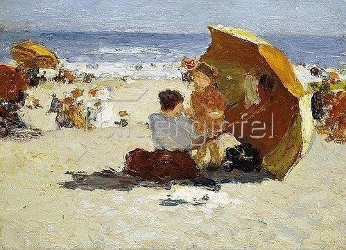Edward Henry Potthast: Late Afternoon, Coney Island. / Coney Island am späten Nachmittag.