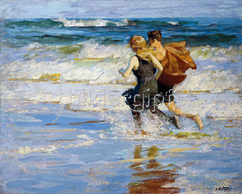 Edward Henry Potthast: At the Beach. / Am Strand.