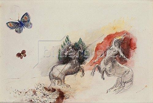 Odilon Redon: Schlacht der Kentauren (Lutte des Centaures).