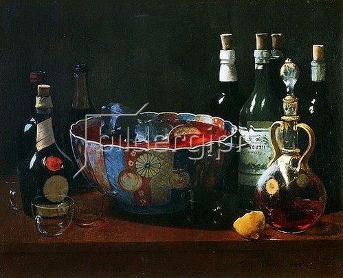 Soren Emil Carlsen: Stillleben mit Flaschen. 1894