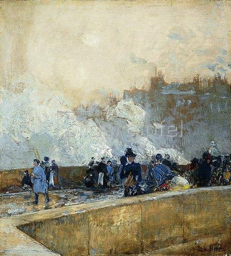 Frederick Childe Hassam: Ein windiger Tag, Paris. Um 1889