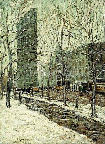 Ernest Lawson: Das Flatiron Building.