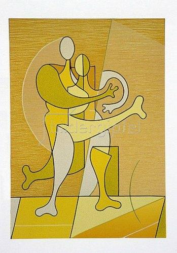 Ludwig Gebhard: Paar in Gelb.