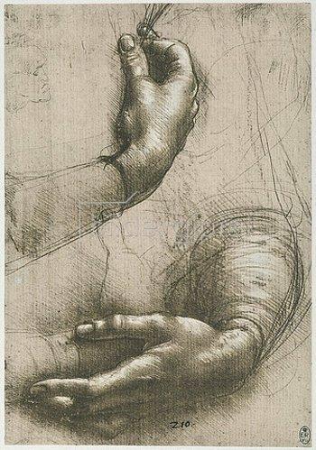 Leonardo da Vinci: Study of female hands.