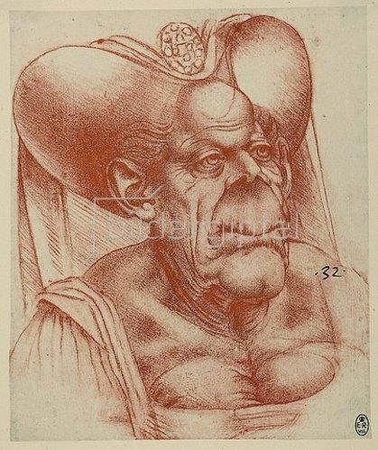 Leonardo da Vinci: Groteske Karikatur.