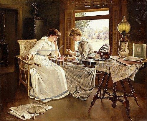 Frederick Judd Waugh: Die Schachspielerinnen. 1891