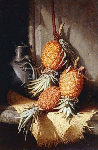 Frederick Stone Batcheller: Stillleben mit Ananas. Um 1880