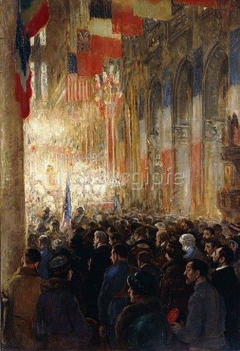 Francis Luis Mora: Dankgottesdienst in Notre Dame nach dem Sieg im Ersten Weltkrieg. 1918