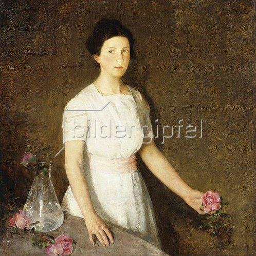 Charles Webster Hawthorne: Mädchen mit Rosen.
