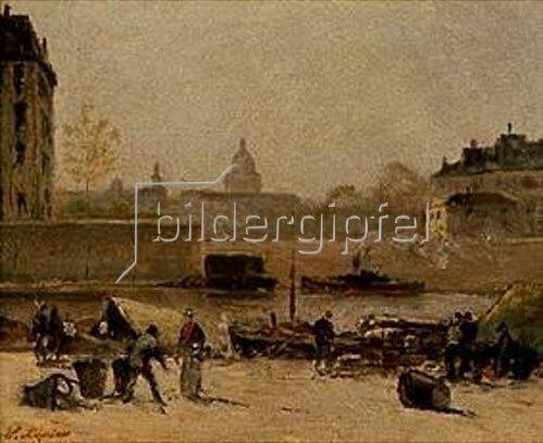 Stanislas Lépine: Paris, an der Seine mit Blick zum Pantheon.