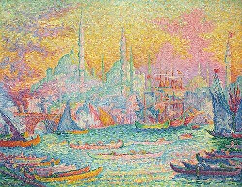 Paul Signac: Goldenes Horn, Konstantinopel. / La Corne d'Or, Constantinople. 1907.