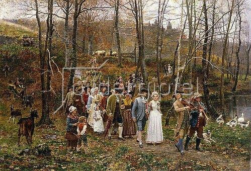 Marie François Firmin-Girard: Der Hochzeitszug. 1879