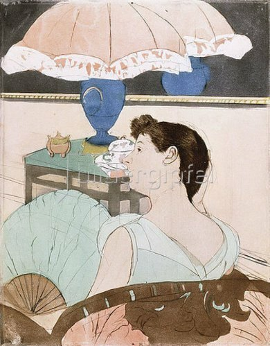 Mary Cassatt: Die Lampe. 1890-91