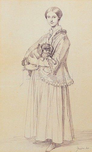 Jean Auguste Dominique Ingres: Mademoiselle Marie Reiset, spätere Vicomtesse Adolphe-Louis-Edgar de Segur-Lamoignon. 1850
