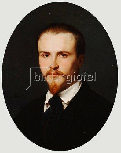 Alexandre Cabanel: Selbstbildnis (signiert und datiert 'A. CABANEL./ ROMA / VILLA MEDICI / 1847').
