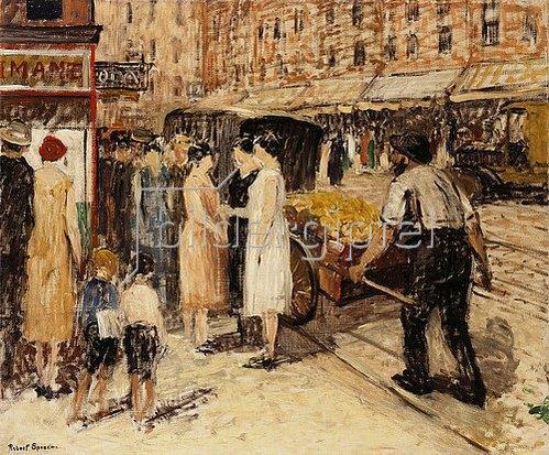 Robert C. Spencer: Lower East Side. Um 1930