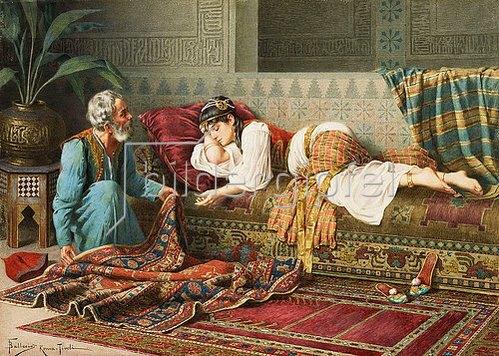 Francesco Ballesio: Der Teppichverkäufer.