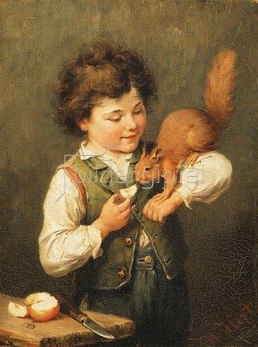 Heinrich Hirt: Das Eichhörnchen.