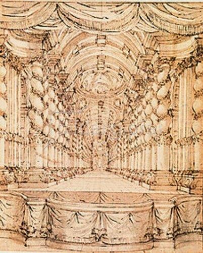 Bibiena: Plafond-Decke.