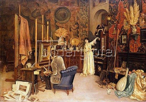Achille Glisenti: Im Atelier des Malers.