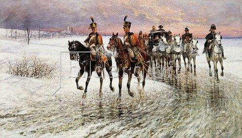 Jan van Chelminski: Napoleons Rückzug aus Moskau.