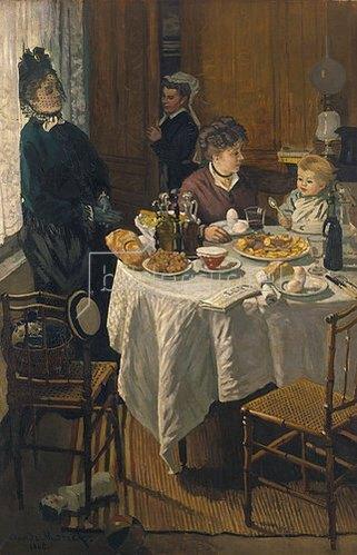 Claude Monet: Das Frühstück (Le Déjeuner). 1868