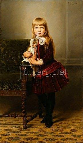 Emil Brack: Porträt eines Mädchens mit ihrer Puppe. 1887