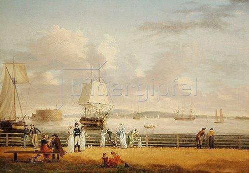 Thomas Birch: Die Battery und der Hafen von New York. Um 1811-12