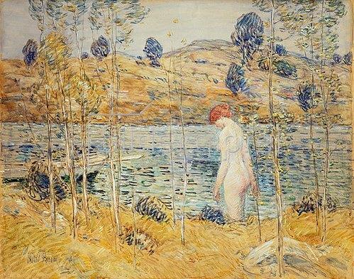 Frederick Childe Hassam: Badende an einem Flussufer. 1906
