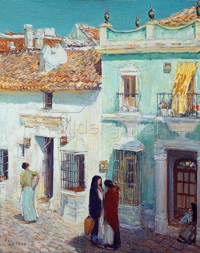 Frederick Childe Hassam: Straßenszene, La Ronda, Spanien. 1910