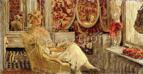 Edouard Vuillard: Lucy Hessel im Ankleidezimmer in Cézanne's Anwesen in Vaucresson. 1924
