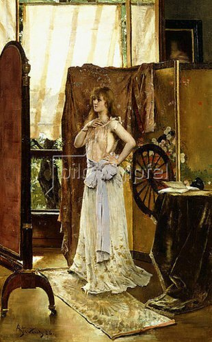 Alfred Stevens: Die Probe (L'Etude du rôle). 1888