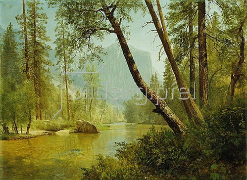 Albert Bierstadt: Fluss im Sonnenlicht (Merced River, Yosemite Valley).