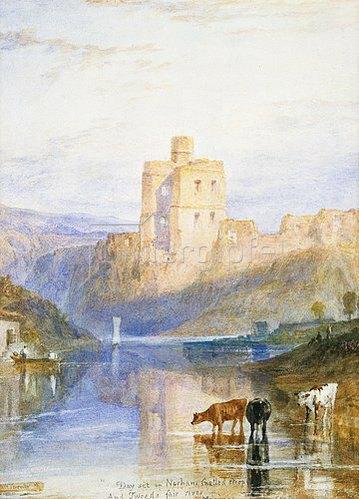 Joseph Mallord William Turner: Norham Castle. Illustration zu Walter Scott's Marmion. 1818