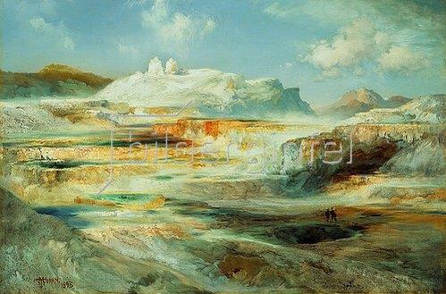 Thomas Moran: Jupiter Terrace, Yellowstone. 1893