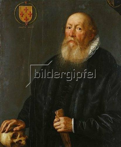Gortzius Geldorp: Bildnis eines bejahrten Mannes. Frühes 17. Jh. Dargestellt ist vermutlich ein Kölner Ratsherr oder Bürgermeister.