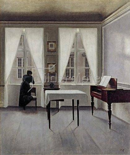 Vilhelm Hammershoi: Interieur, Strandgade 30. 1901.