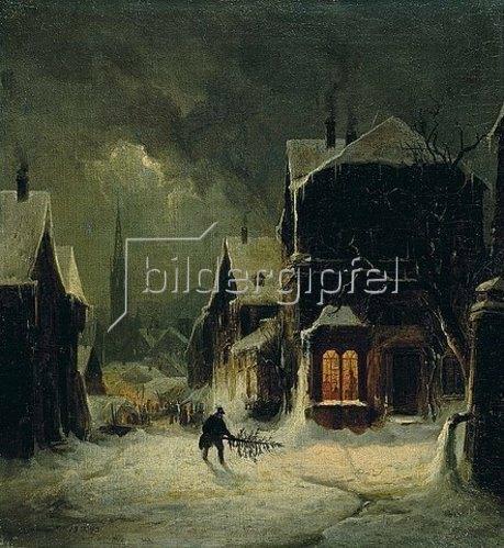 Edmund Koken: Weihnachtsstimmung. 1843.