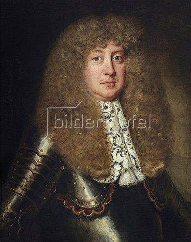 Jakob Ferdinand Voet: Porträt Ernst August, Herzog von Braunschweig-Lüneburg (1629-1698), später Kurfürst. Mit modischer Allongeperücke, Rüstung, Kragen aus flandrischer Klöppelspitze.