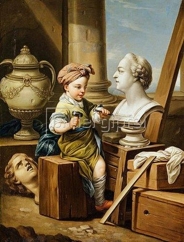Charles André van Loo: Die vier Künste - die Bildhauerei. (siehe auch Bildnummern 42268-42270)